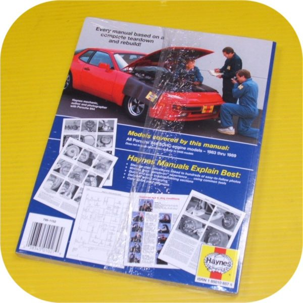 Repair Manual Book Porsche 944 & Turbo Owners 83-89 NEW-11039
