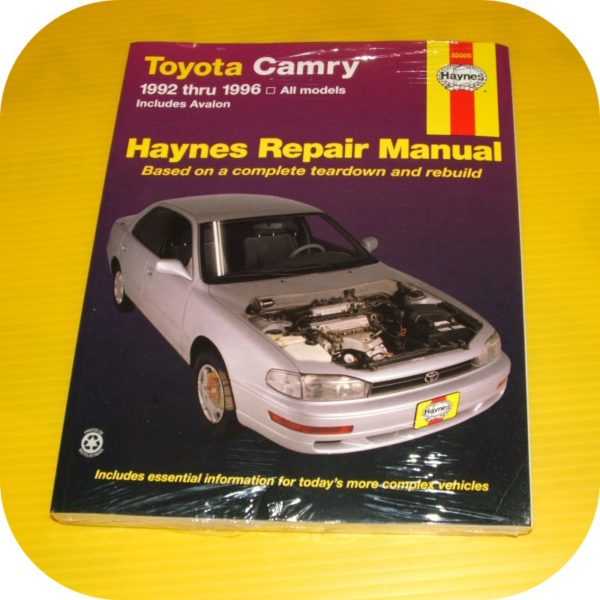 Repair Manual Book Toyota Camry Avalon 92-96 Owners-0