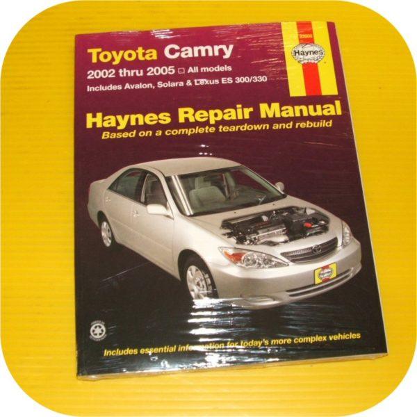Repair Manual Book Toyota Camry Avalon Lexus ES 300 330-0