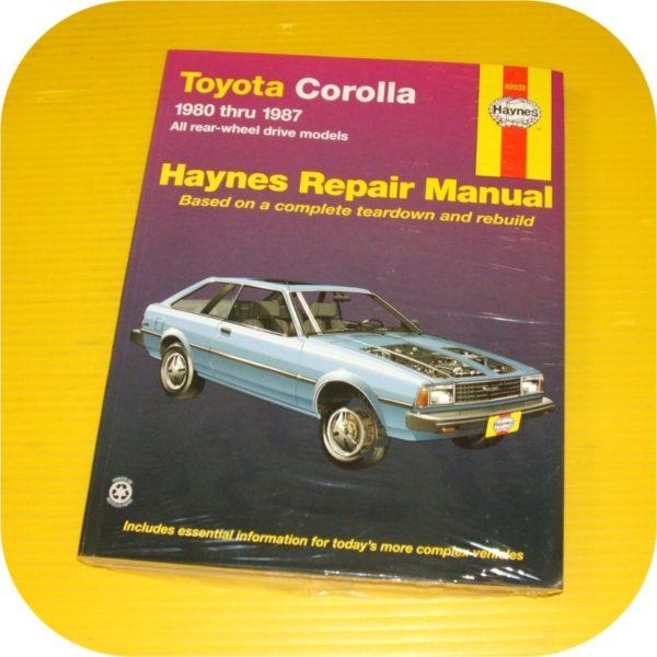Repair Manual Book Toyota Corolla 80-87 Owners RWD GTS-0