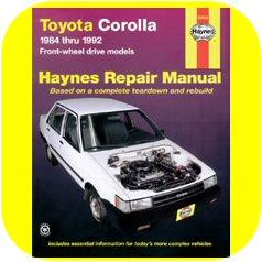 Repair Manual Book Toyota Corolla 84-92 Owners FWD 4AFE-0
