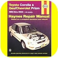 Repair Manual Book Toyota Corolla Geo Prizm 93-02 Owner-0