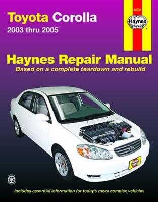 Repair Manual Book Toyota Corolla 03-05 Owners Workshop-0