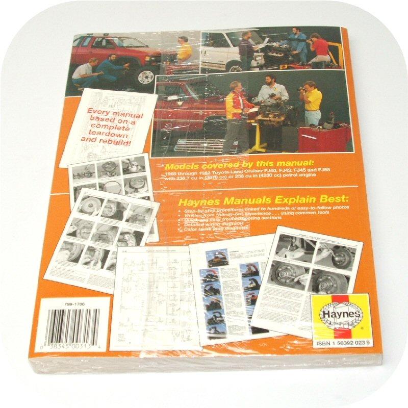 Repair Manual Book Toyota Fj40 Fj55 Land Cruiser Owners