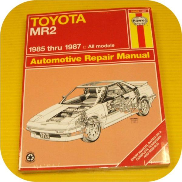 Repair Manual Book Toyota MR2 MR-2 85-87 4AGELC Owners-0