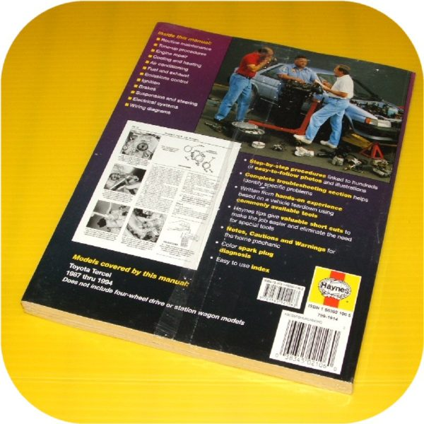 Repair Manual Book Toyota Tercel 87-94 Owners 3EE EZ-10847