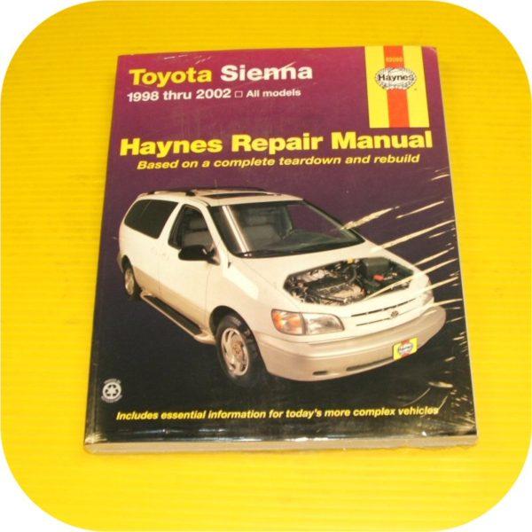 Repair Manual Book Toyota Sienna 98-02 Van Shop NEW-0