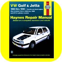 Repair Manual Book VW Golf Jetta GTI Cabrio Volkswagen-0