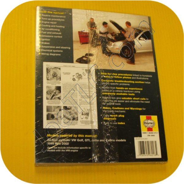 Repair Manual Book Volkswagen Golf GTi Jetta Owners-10766