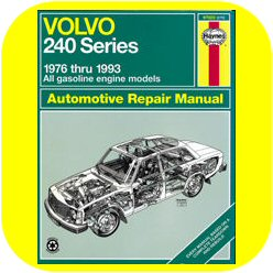 Repair Manual Book Volvo 240 Wagon Sedan Owners B230-0