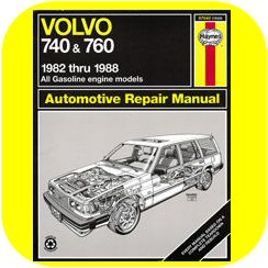 Repair Manual Book Volvo 740 760 Wagon Sedan Owners-0