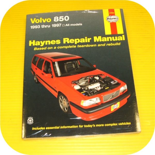 Repair Manual Book Volvo 850 93-97 Wagon Sedan B5254-0