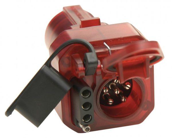 7 RV Blade to 4 Flat 6 pole Trailer Brake Light Adapter-0