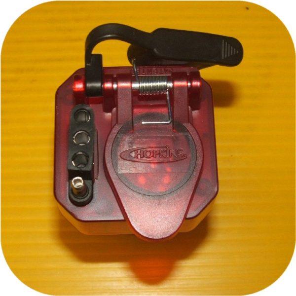 7 RV Blade to 4 Flat 6 pole Trailer Brake Light Adapter-16986