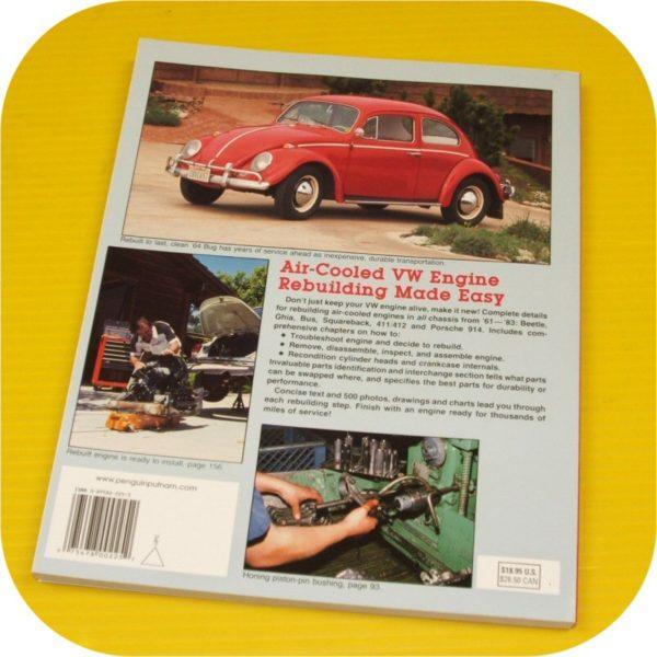 VW motor rebuild book bug dune buggy sand rail beetle VolksWagen 1600 Type 1 Tin-4325