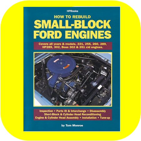 How to Rebuild Small Block Ford Engines Boss V8 221 260 289 302 351 Book Manual-0