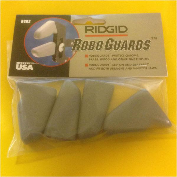 RIDGID RG02 GRAY ROBO GRIP WRENCH GUARDS Pliers Jaw Brass Chrome-0