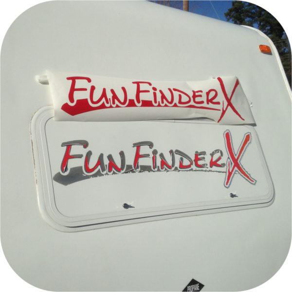 Decals Fun Finder X Camper Tent Travel Trailer Stickers Cruiser RV BLUE 160 189-20132