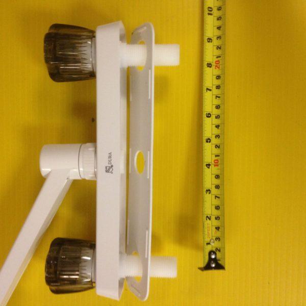 Dura Kitchen Sink Faucet Camper RV Travel Trailer Pop Up Plumbing Water White-20103