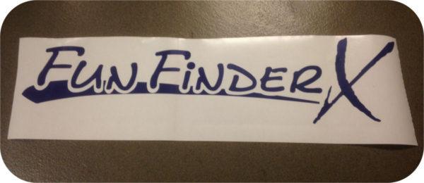 Decals Fun Finder X Camper Tent Travel Trailer Stickers Cruiser RV BLUE 160 189-0