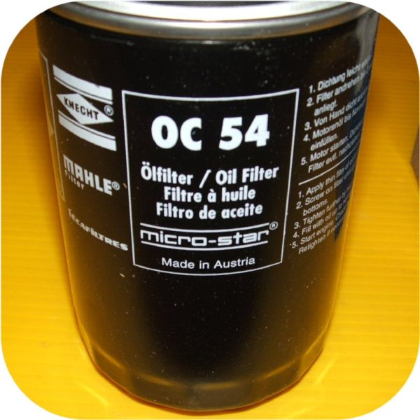 MAHLE OC54 Oil Filter Porsche 911 Carrera 2 4 Turbo S SC 930 72-94-19042