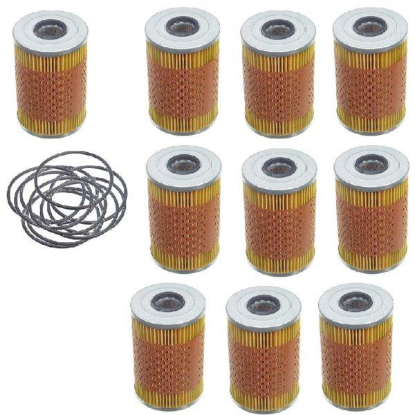 10 Oil Filter BMW 633 635 Csi 733 735 i E23 E32 E24 Kit-0