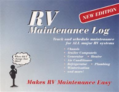 RV MAINTENANCE LOG Book RVMotor Home RV Camper Class A B C Pusher Repair-0