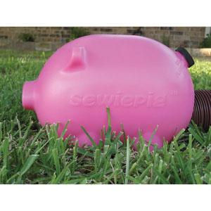 PINK Sewiepig Pig Sewer Dump Hose Pipe Cover Camper Travel Trailer Pop Up RV-0