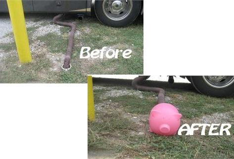 BLACK Sewiepig Pig Sewer Dump Hose Pipe Cover Camper Travel Trailer Pop Up RV-20274