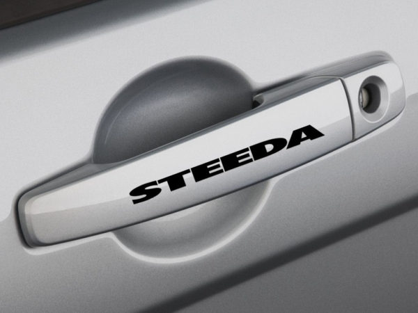 STEEDA Door Handle Logo Sticker Emblem Ford Focus Mustang F150 Pickup Truck SVT-0