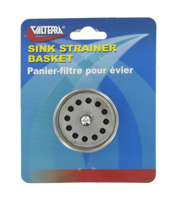 SS Sink Strainer Basket Camper Travel Trailer Pop Up RV Black Kitchen Galley-20040