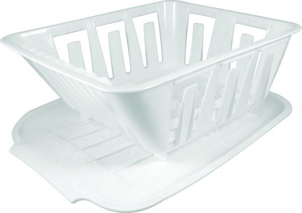 White Plastic Dish Mini Sink Strainer Camper Travel Trailer Pop Up RV Rooftop-0