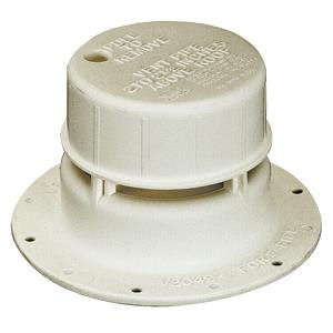 White Sewer Vent For 1-1/2 Inch Pipe Removable Cap RV Camper Travel Trailer-0