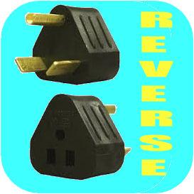 REVERSE 30 amp/ 110v power cord adapter for Camper Travel Trailer Pop Up RV Plug-0