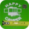 Happy Camper Vinyl Sticker Pop Up Tent Jayco Starcraft Rockwood Viking Coleman-19456